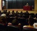 Antoni Dalmases a l'Escola Joan Pelegrí