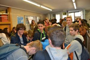visita escola franca 2015 300x200 Intercanvis internacionals