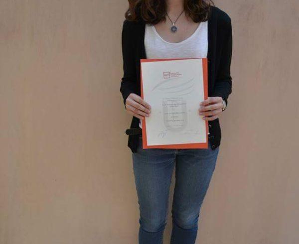 El treball de la Jana Castany té premii