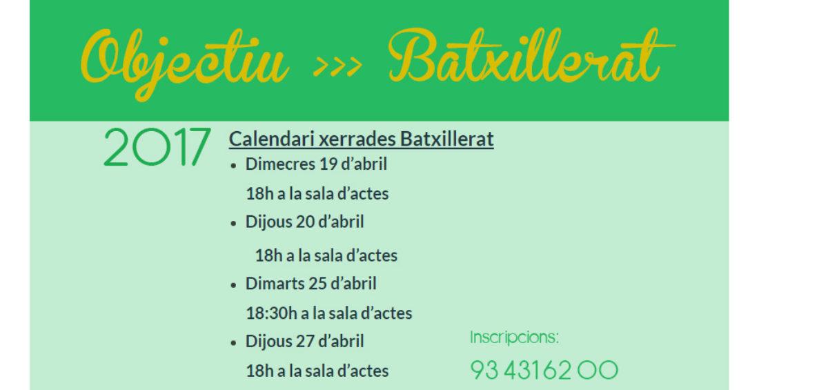 xerrades Batxillerat 2017