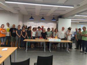 Alguns dels assistents als 25 anys del Grup UNESCO